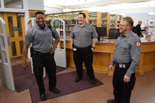 Security guards at library