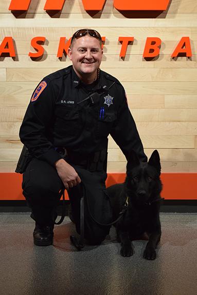 Officer Darren Lewis and K-9 Bane.