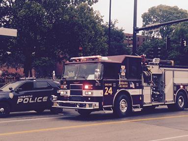 Urbana Fire Department truck